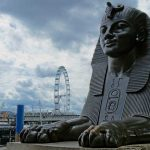 Cleopatra's Needle Sphynx in London