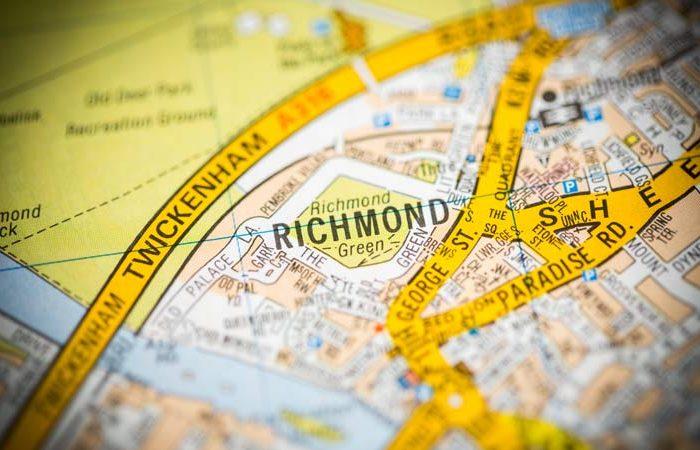 Richmond. London, UK map.
