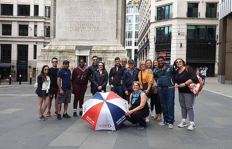 City of London Tour Group Photo