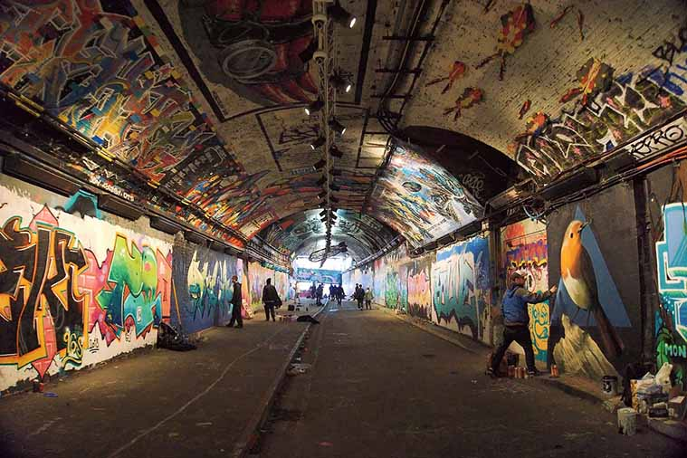 Graffiti Tunnel Waterloo London