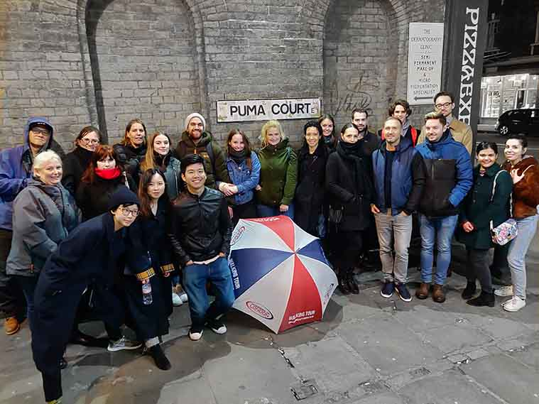 Jack the Ripper Tour Group Photo
