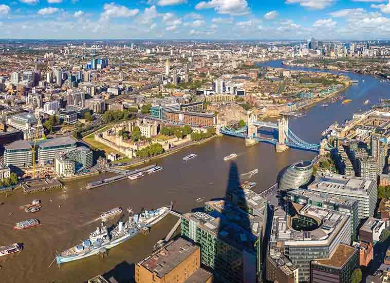 Londra sul Tamigi Panorama