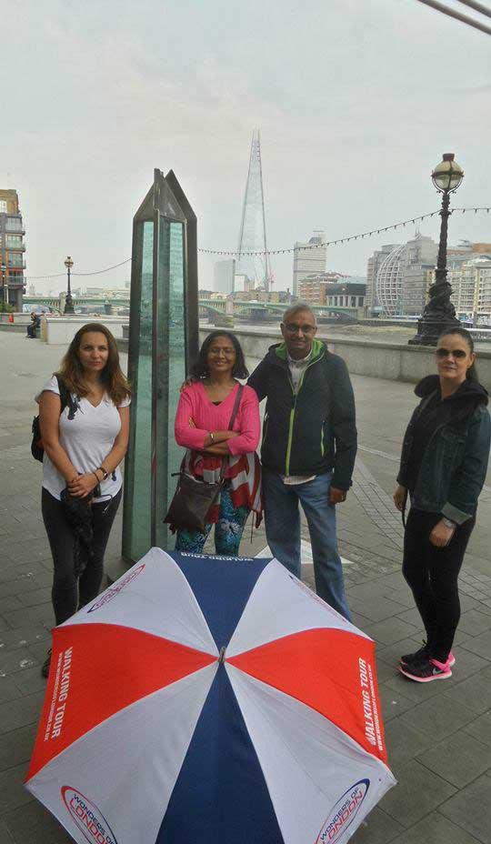 River Thames Walk Tour Group Photo