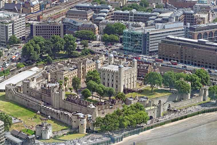 Vista Tower of London Londra