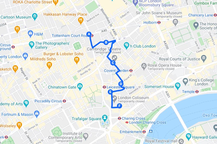 Beer Gin History Pub London Tour Itinerary Map