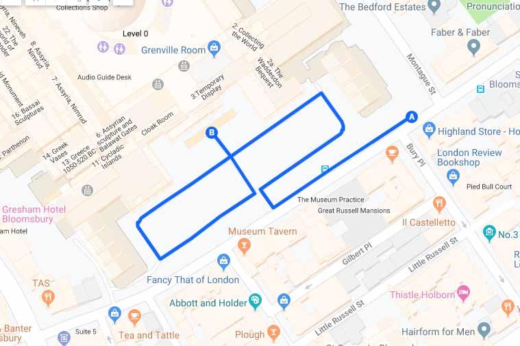 British Museum London Tour Itinerario Mappa