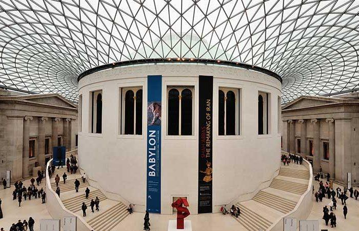 interno del british museum durante il tour