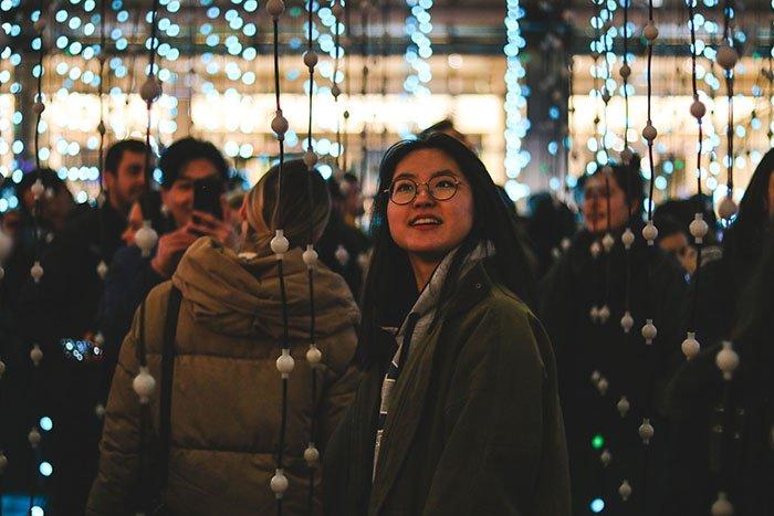 Canary Wharf Winter Lights