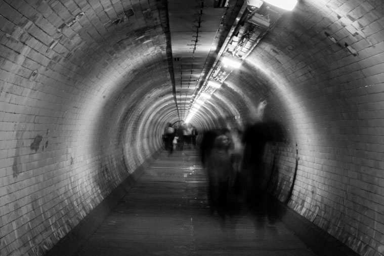 Tunnel with ghost in london