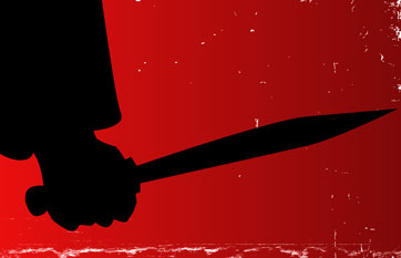 jack lo squartatore a londra con coltello in mano durante tour