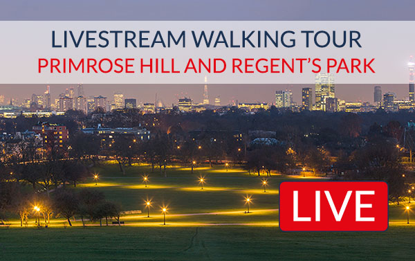 Primrose Hill Regents Park Livestream Tour London