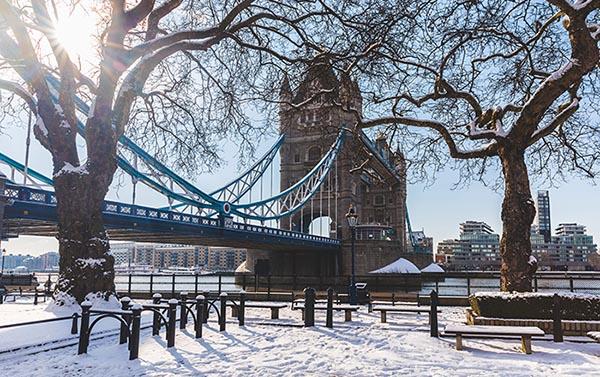 Neve Londra Regno Unito