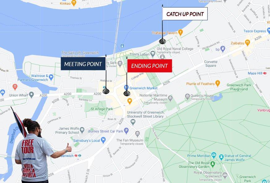 Map Greenwich Tour London