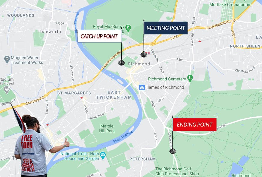 Map Richmond Tour London