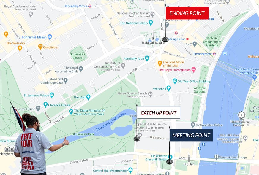 Map Royal Westminster Tour London