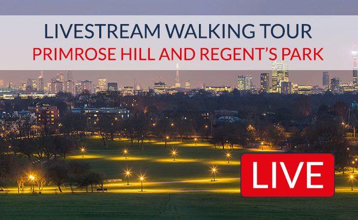 Primrose Hill Regents Park Livestream Tour London