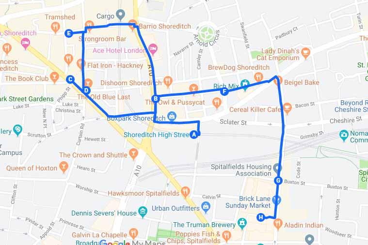 Street Art Graffiti Londra Tour Itinerario Mappa