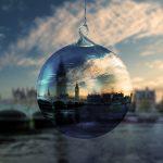 Tour fotografico di Londra con palla di natale